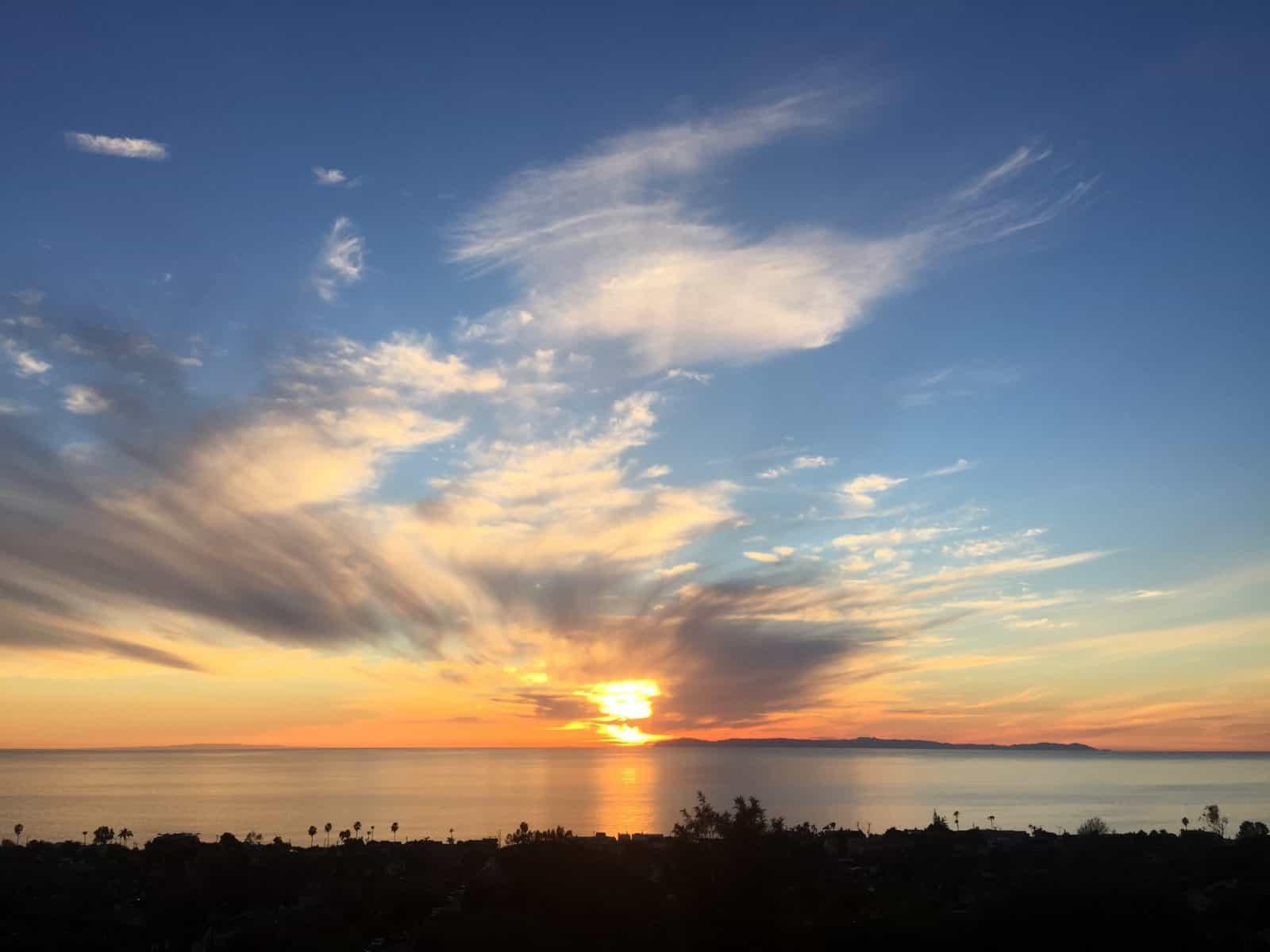 Laguna Beach Fire Sky